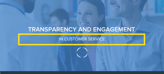 Transparency and engagement banner